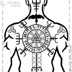 Viking Tattoo Sleeve, Viking Tattoo Symbol, Rune Tattoo, Norse Tattoo, Viking Tattoo Design, Celtic Tattoos, Viking Tattoos, Back Tattoos, Future Tattoos