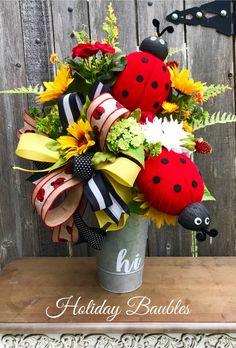 A personal favorite from my Etsy shop https://www.etsy.com/listing/609312341/summer-ladybug-arrangement-summer