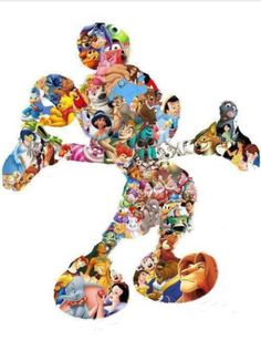 Disney Mickey Mouse all disney characters together