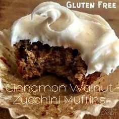 Cinnamon Walnut Zucchini Muffins #gluten free