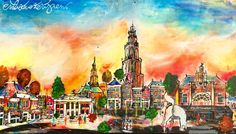 Holland, Amish, Blog, Skyline, Painting, Art, Drawings, Kunst, The Nederlands