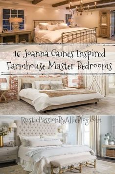 Farmhouse Master Bedrooms Look at that brick wall and shiplap . Love the farmhouse rustic look. This bedroom collection is dreamy. It would make me want to stay in bed all day because of how stunning these master bedrooms are. Living Room Furniture Images, Farmhouse Living Room Furniture, Bedroom Furniture, Bedroom Decor, Mission Furniture, Steel Furniture, Furniture Sets, Bedroom Ideas, Furniture Outlet