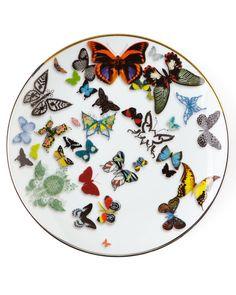 Butterfly Parade Dessert Plate, Multi - Vista Alegre by Christian Lacroix