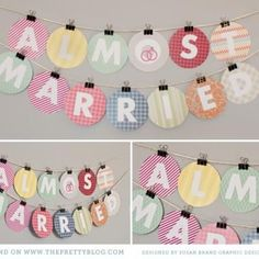Almost Married Banner {Bridal Shower Printable} I like the way the sign is put together.... Perhaps for a birthday party.