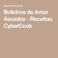 Bolinhos de Arroz Assados - Receitas CyberCook