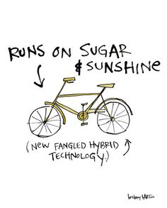 Sunshine Bike Canvas Print