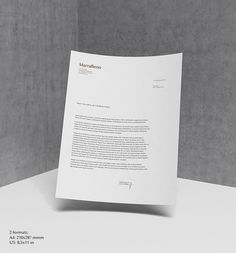 Free Collection 4 - Mock Up 9 Letterhead