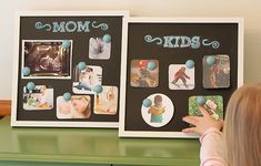 New Year's DIY: Make Vision Boards with the Kids  : going to do this with cork board and fancy pins.