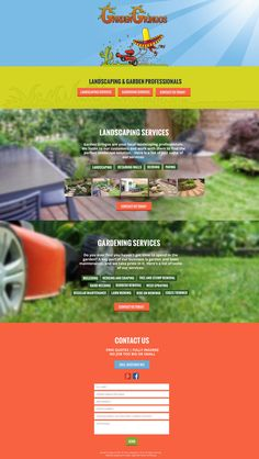 Web Design by H Create! Garden Gringos. Colourful and fun is the brand, serious is the gardening!