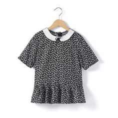 Short-Sleeved Printed Blouse with Peter Pan Collar R kids - Tunics, Blouses & Shirts