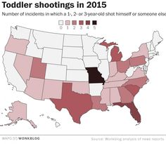 Toddlers are finding loaded guns and inadvertently shooting themselves and others. We've Had 52 Toddler Shooting Incidents In The U.S. Vs. One Islamic Terrorist Attack In 2015. 10.14.15