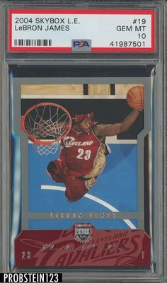 78cd6ab427c 2004 Skybox Limited Edition  19 LeBron James Cleveland Cavaliers PSA 10 POP  4  LeBronJames  PSA10  sportscards