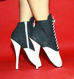 White-gray jeans-lack short ballet boots http://www.obuwie-erotyczne.pl/item.html/id/4019900520