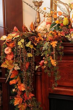 Fabulous fall mantel.  OMG! Love this!