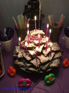 Excellent Image of Birthday Cake Brownies . Birthday Cake Brownies Nikaya Wanted A Brownie Tower For Her Birthday My Personal Birthday Brownies, 10 Birthday Cake, Birthday Cake Decorating, 11th Birthday, Birthday Cake Toppers, Birthday Fun, Birthday Ideas, Cake Brownies, Birthday Crafts