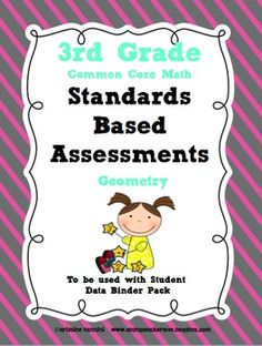 $3-Standards Based Assessment: 3rd Grade Math Geometry {Common Core}