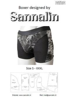 Patroon/mannen boxer/ pattern men boxer PATR01 by Sannalin on Etsy, €11.50