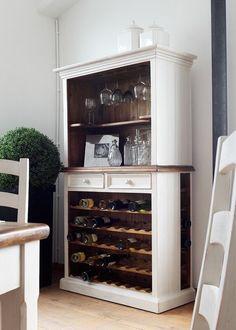 Weinregal Beppo Buffet Kiefer Massiv Weiß 5863. Buy now at https://www.moebel-wohnbar.de/weinregal-landhaus-beppo-landhausmoebel-weiss-holz-kiefer-massiv-5863