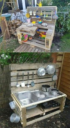 17 Cute Upcycled Pallet Projects for Kids Outdoor . - 17 Cute Upcycled Pallet Projects for Kids Outdoor … – Source by annesch Outdoor Fun For Kids, Outdoor Play Areas, Backyard For Kids, Backyard Projects, Diy Pallet Projects, Pallet Ideas, Garden Projects, Projects For Kids, Diy For Kids