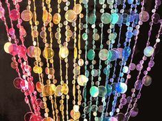 Doorway Beaded Curtains Champagne Bubbles Rainbow