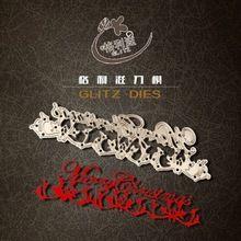 Merry Christmas metal troqueladora scrapbooking carpeta de grabación en relieve juego para fustella big shot sizzix muere máquina de corte(China (Mainland))