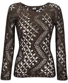 interesting lines, crochet