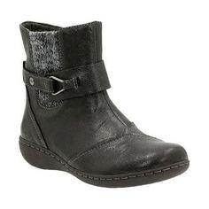 Women's Clarks Fianna Adley Ankle Boot Goat Corrected Full Grain