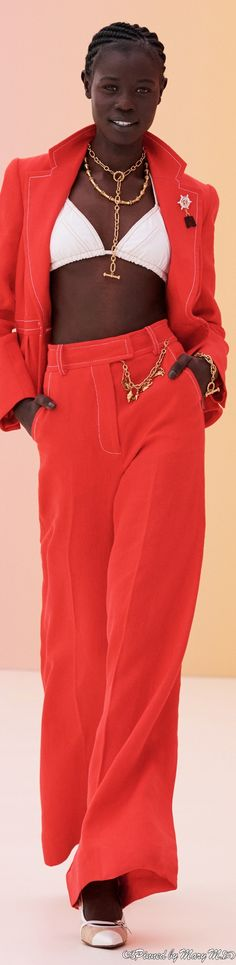 Love Fashion, Fashion Outfits, Womens Fashion, Capsule Outfits, Zimmerman, Two Pieces, Fendi, Red And White, Cherry