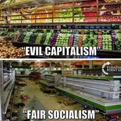 How can people think that Socialism/Communism is a good thing ? Yes, Capitalism has its flaws, but at least ther is the possibility to work on these, unlike in oppressive socialist states. Truth Hurts, It Hurts, Hard Truth, Liberal Logic, Out Of Touch, Political Memes, Political Topics, Political Cartoons, Socialism