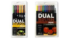 Tombow Dual Brush Pen Set (16 Pack Primary and Secondary Colors) (16 Pack)