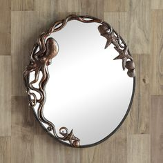 Octopus Oval Wall Mirror | 51009 | SPI Home