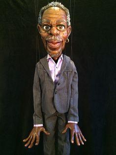 WOW!  A Morgan Freeman marionette!  (no link)