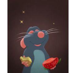 Disney Canvas Art, Mini Canvas Art, Disney Fan Art, Cute Canvas, Ratatouille Characters, Ratatouille Disney, Film Ratatouille, Disney Sketches, Disney Drawings
