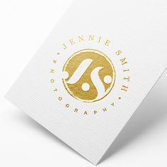Initials Logo, Gold logo, Watermark Logo, Business Stamp Logo, Glitter Gold Logo, Vintage Gold Logo, Brush Gold Logo, Gold Business Logo by WithPassionDesign on Etsy https://www.etsy.com/listing/267802393/initials-logo-gold-logo-watermark-logo