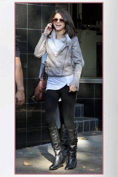 Buy it: Selena Gomez's Leatherette Faux Fur Jacket