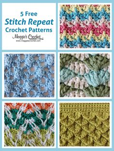 This week, we are please to present five free stitch patterns, ranging in difficulty from Beginner to Intermediate.Thesestitch repeats can be worked with any size of yarn, but worsted weight yarn...