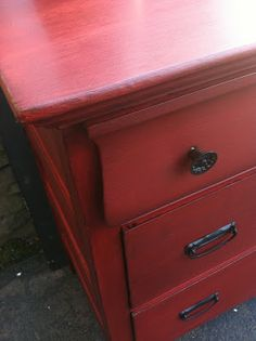 Antique Dresser Makeover: From Drab to Fab – Meet Red Hot Rhetta!