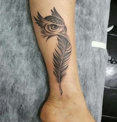 Eagle eye/face instead of the owl – Wing Tattoo – Fashion Tattoos Indian Feather Tattoos, Feather Tattoo For Men, Feather Tattoo Design, Owl Tattoo Design, Wrist Tattoos For Women, Tattoo Designs, Eagle Wing Tattoos, Design Tattoos, Forearm Tattoos
