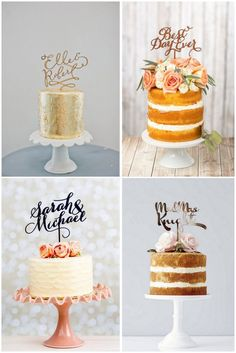 8 Tasty Wedding Cake Trends 2016