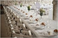 CHAIR tied name places, possible for bridal party table