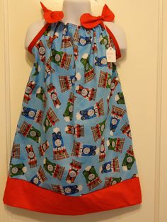 Thomas The Train Girls Pillowcase Dress Made to Order Sizes 6 months 9 months 12-18 months 18-24 months and Size 2 to 8 & Star Wars Girls Dress Episode VII Heroes All Over Girls ... pillowsntoast.com