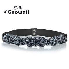 Goowail  Elegant Rhinestone Waist Belts for Women - New Vintage Female Waistband - Blue Crystal Gem Belts & Cummerbunds //Price: $13.98 & FREE Shipping //     #hashtag4