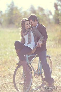 Engagements + bike = cute