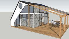3d Model Library, Sketchup Model, 3d Warehouse, Contemporary, Modern, Facade, Home Goods, New Homes, Villa