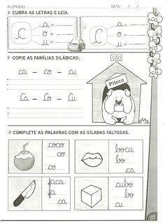 Atividades de alfabetização com as letras: B ,C ,D e F