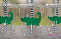 Preppy Alligator Party Cups Lids Paper by SignatureAvenue on Etsy