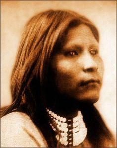 Portrait of an unidentified Paiute woman. Date 1870.