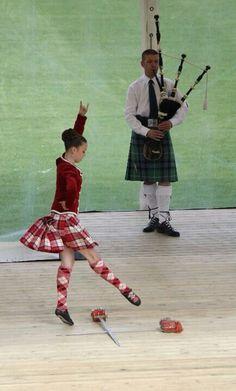 Scottish Highland Sword Dancing - I danced as a child