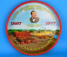 040 Metal Beer Tray 110th Anniversary 1977 Vtg Jacob Leinenkugel's Leinenkugels