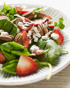 Sweet Paul's Strawberry Balsamic & Goat Cheese Salad - celebrate Summer!